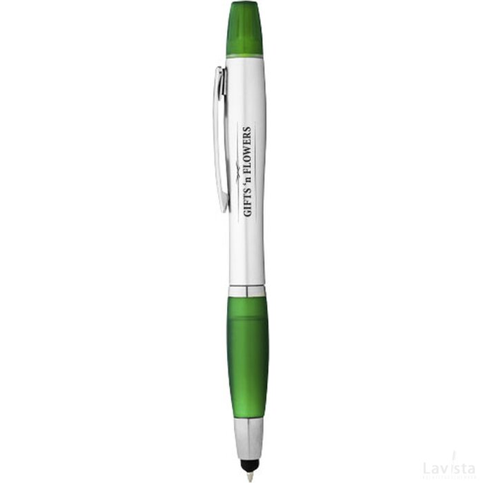 Nash stylus balpen en markeerstift met zilveren houder n gekleurde grip