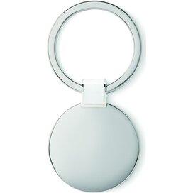 Metalen sleutelhanger Roundy Wit