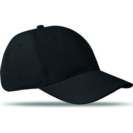 Katoenen baseball cap Basie Zwart