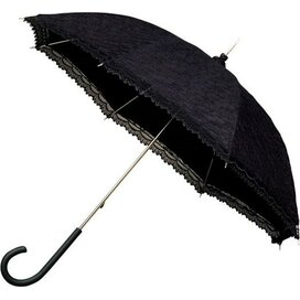 Falcone® damesparaplu retro-romantisch zwart