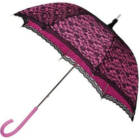 Falcone® damesparaplu retro-romantisch roze