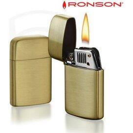 Ronson Typhoon Petrol - Brass Satin