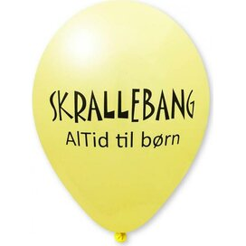 Ballon 90/100 cm lichtgeel