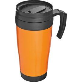 Kunststof drinkbeker met afsluitbare deksel- 0,4L Sandau oranje