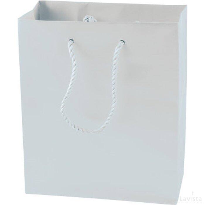 Mat gelamineerde papieren tas  160 x 190 x 80 mm.