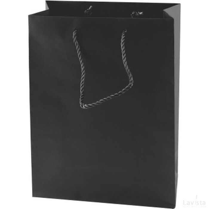 Mat gelamineerde papieren tas 270 x 370 x 120 mm.
