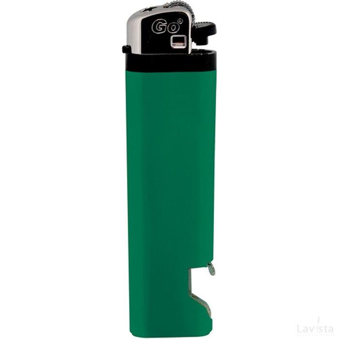 GO aansteker met flesopener groen