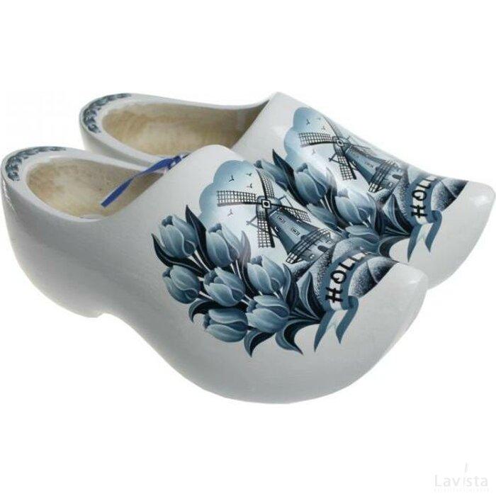 Draagklompen maat 19-24 Tulp delftsblauw
