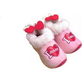 "Baby klomppantoffels ""I Love Mama"" roze"