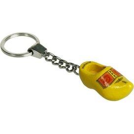 Sleutelhanger met een klompje Bies geel