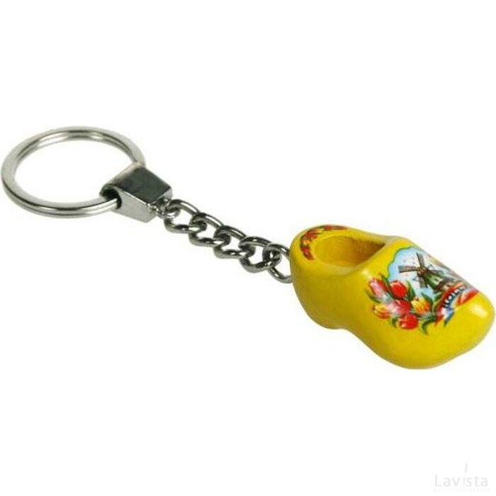 Sleutelhanger met een klompje Tulp geel