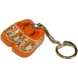 Sleutelhanger met twee klompjes Oranje
