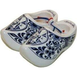 Souvenirklompje 10,5 cm Wit Delfts-blauw
