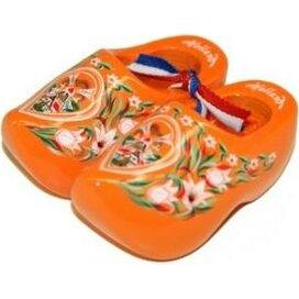 Souvenirklompje 14 cm Oranje met molen