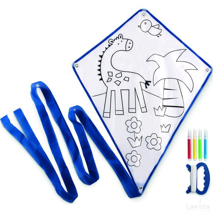 Vlieger met viltstiften Tarifa Blauw