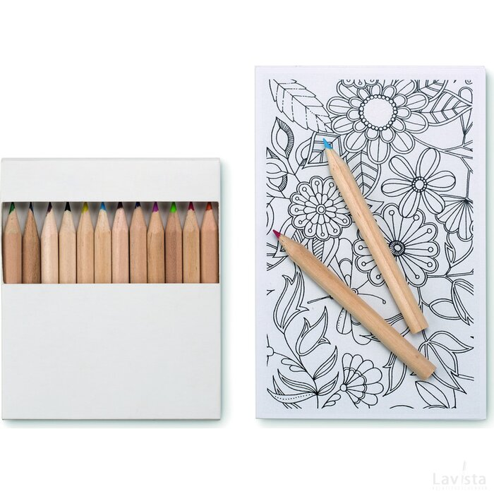 Kleurkaarten voor volwassenen Paint&Relax Wit