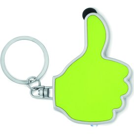 Sleutelhanger thumbs up-vorm Gioia Lime groen