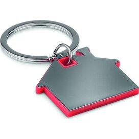 Huisvormige sleutelhanger Imba Rood