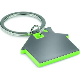 Huisvormige sleutelhanger Imba Lime groen