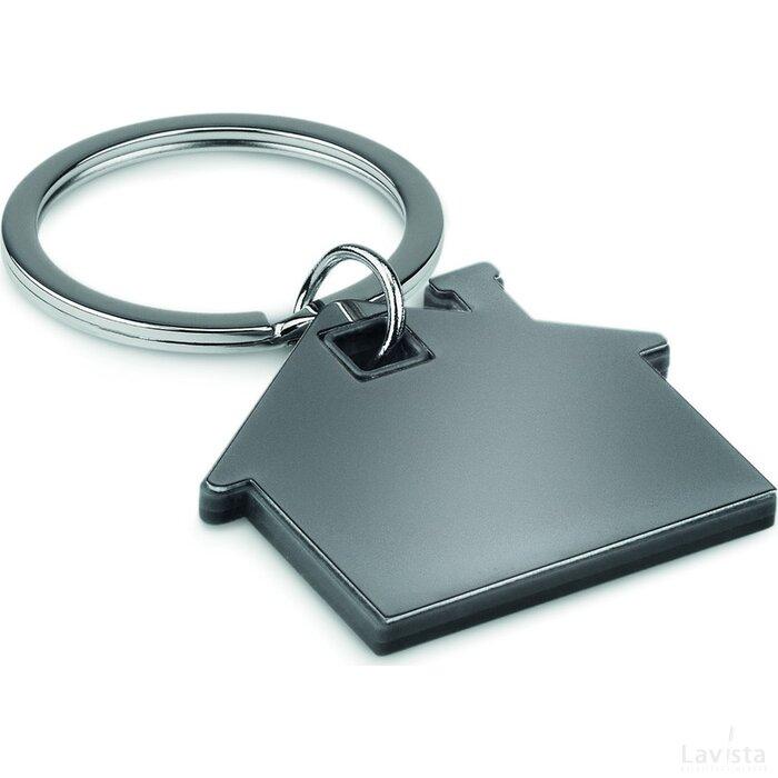 Huisvormige sleutelhanger Imba Zwart