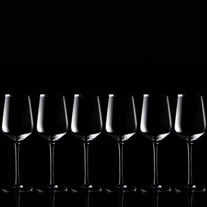 Set 6 witte wijnglazen Werra transparant