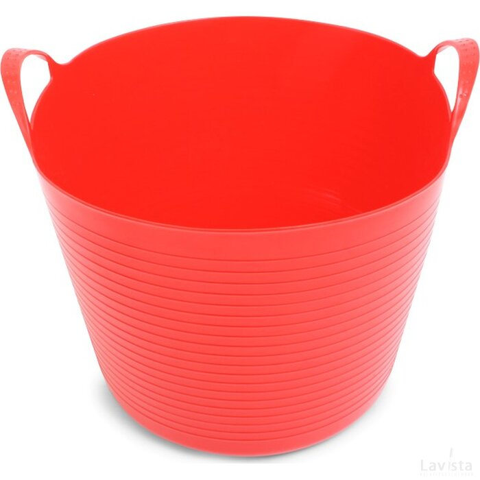 Home Storage Bucket Red