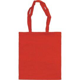 Katoenen draagtas gekleurd Rood