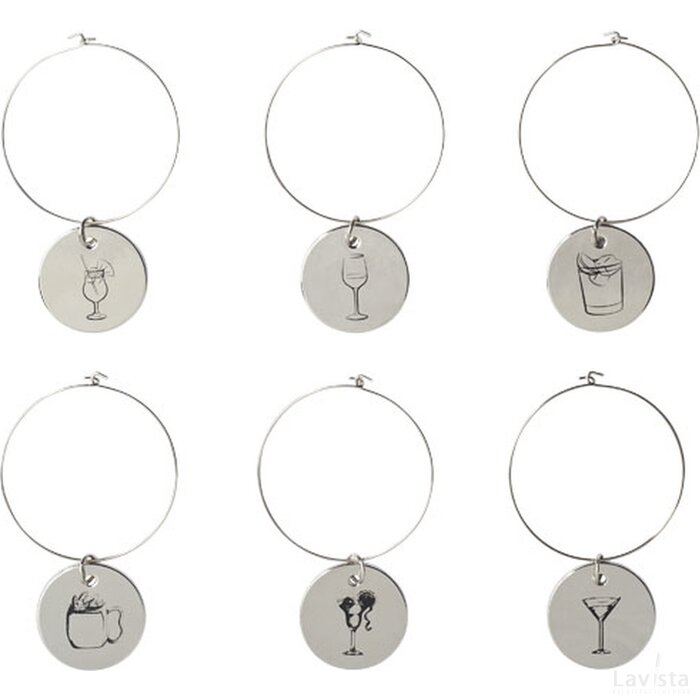 Marla drink charms Zilver