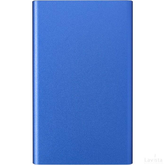 Pep aluminium powerbank 4000 mAh koningsblauw