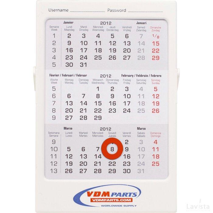 Maandplanning in 3 maands bureau kalender for Bureau kalender