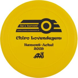 Frisbee 21 cm. met ringen Geel