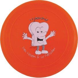 Frisbee 21 cm. met ringen Oranje