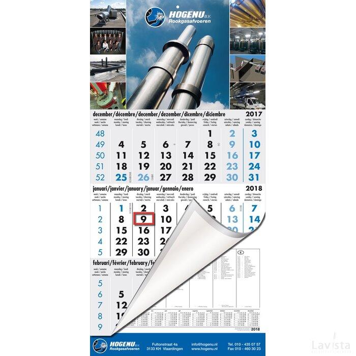 Jaarkalender | 3-maands kalender Budget met voetstuk