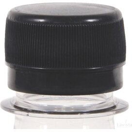 Ronde waterfles 500 ml met platte dop transparant