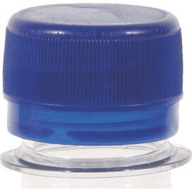 Ronde waterfles 500 ml met platte dop donkerblauw