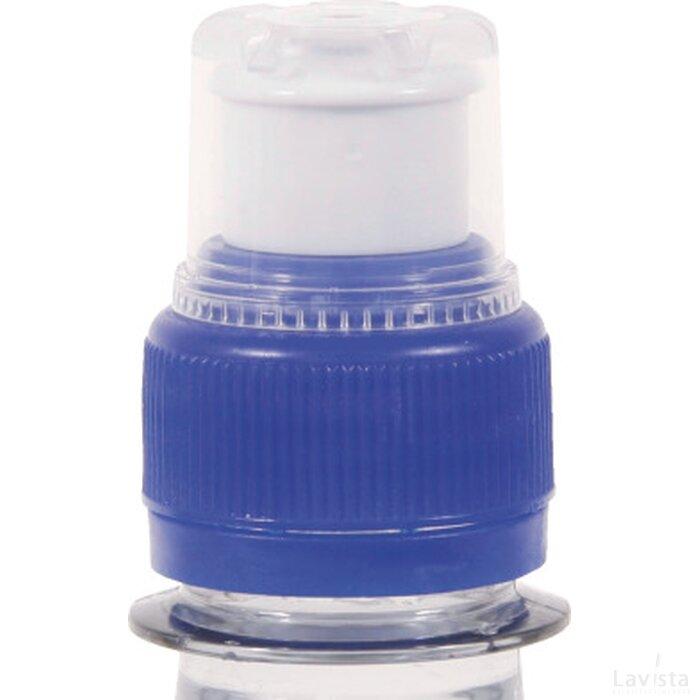Ronde waterfles 330 ml met sport dop donkerblauw