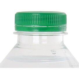 Ronde waterfles 330 ml met platte dop donkergroen