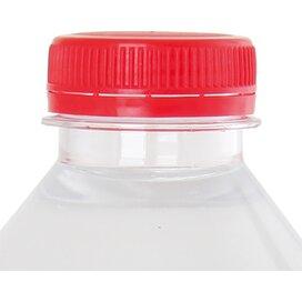 Ronde waterfles 330 ml met platte dop rood