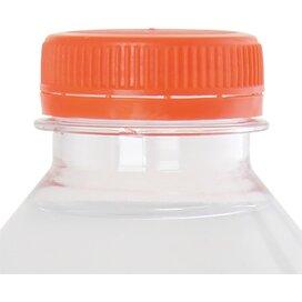 Ronde waterfles 500 ml met platte dop oranje