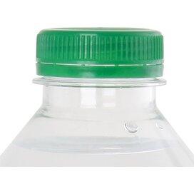 Ronde waterfles 500 ml met platte dop donkergroen