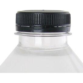 Ronde waterfles 500 ml met platte dop zwart