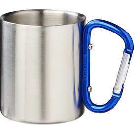 Alps geïsoleerde drinkbeker met karabijnhaak blauw