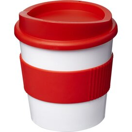 Americano® primo 250 ml beker met grip Wit,Rood