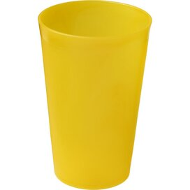 Drench 300 ml kunststof beker geel Frosted yellow