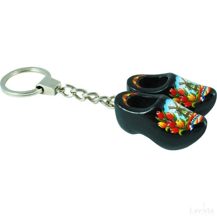 Keychain 2 shoes, black tulip