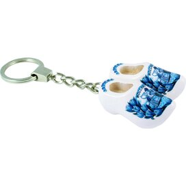 Keychain 2 shoes, delft blue kissing couple