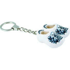 Keychain 2 shoes, delft blue tulip