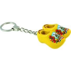 Keychain 2 shoes, yellow tulip