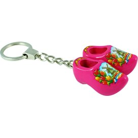 Keychain 2 shoes, pink tulip