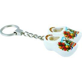 Keychain 2 shoes, white tulip